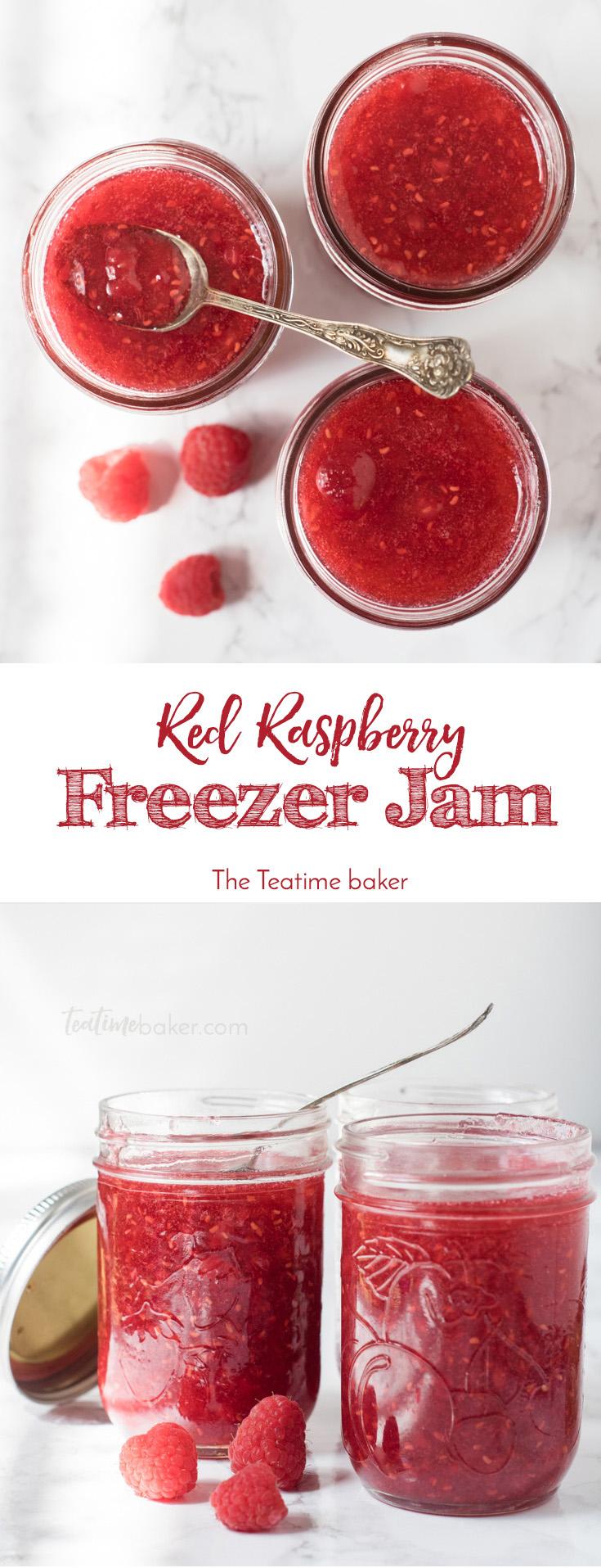 Red Raspberry Jam Recipe | Freezer Jam | Easy Jam Recipe | 30 minute jam | Summer Preserves