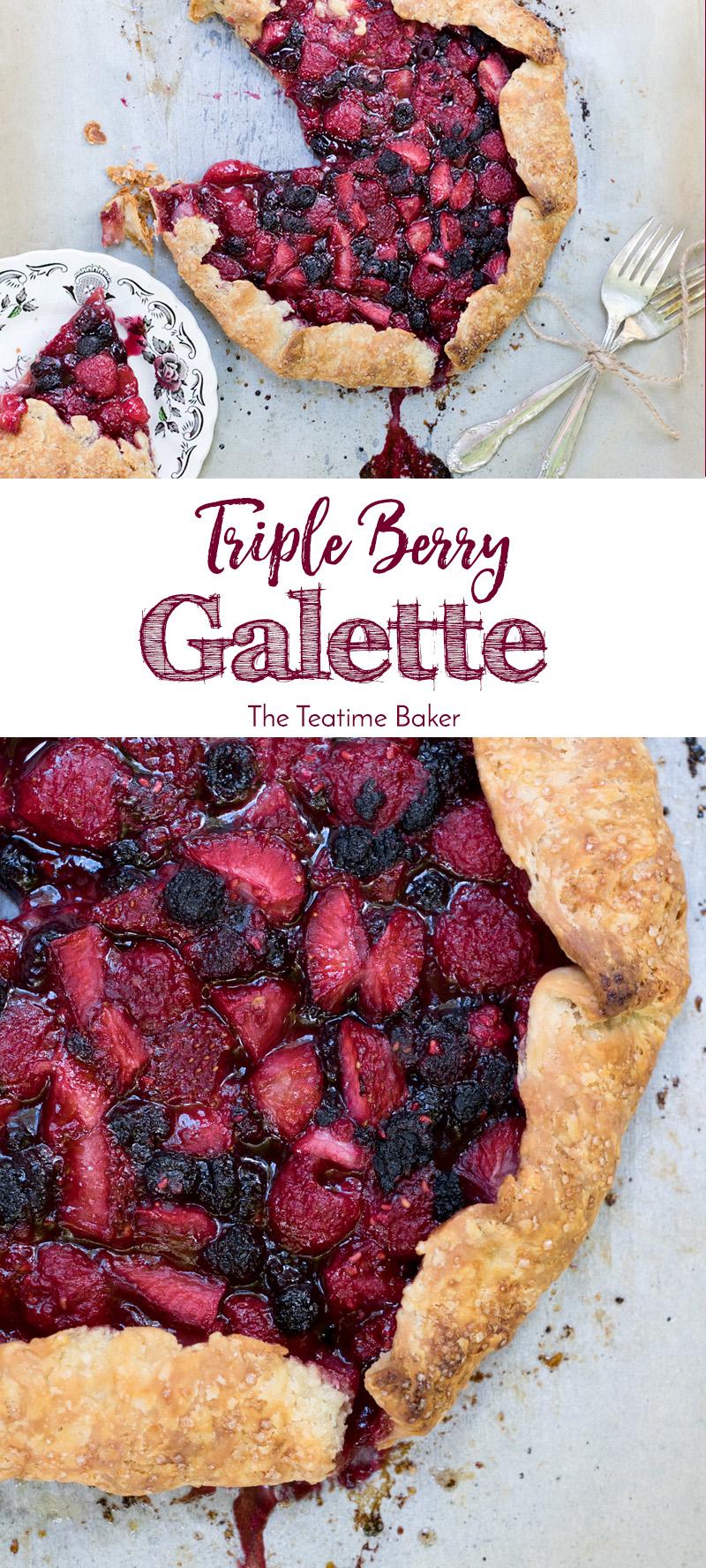 Summer Dessert | Triple Berry Galette | Pie Recipe | Summer Berry Dessert