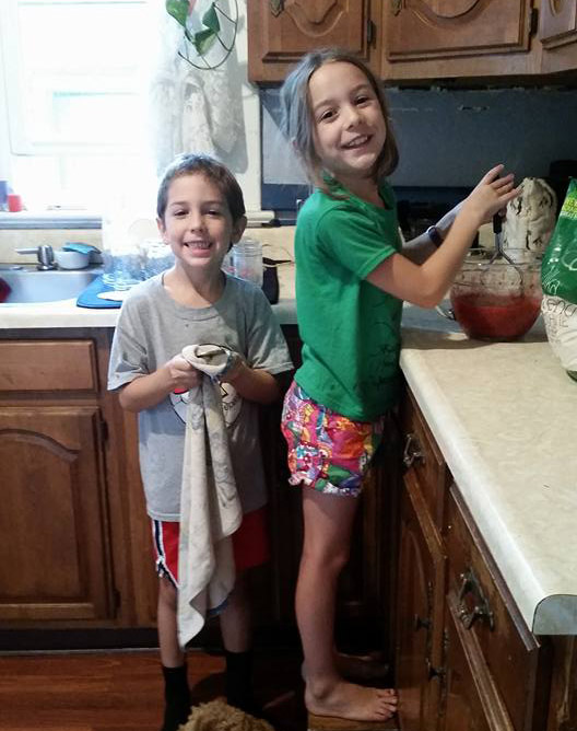 making jam with the kids