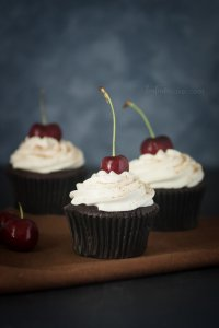 Black Forest Cupcakes are perfect for a dinner party or weeknight dessert | Chocolate Recipes