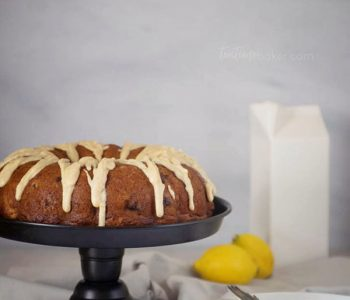 Lemon Blueberry Bundt Cake topped with brown butter icing is a delicious summer treat   Bundt Cake - click for recipe