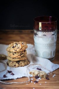 Coconut Cranberry Oatmeal Cookies are a tasty trail cookie, perfect for fall hikes, camping and tailgating! | Cookie Recipe | The TeatimeBaker | Holiday Baking | #oatmealcookierecipe