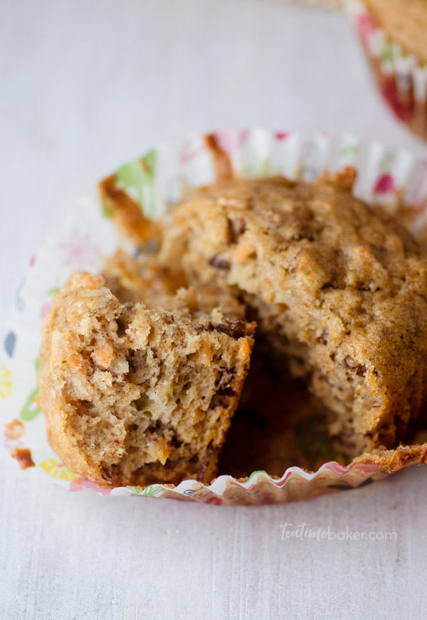 A closeup view of healthy Breakfast muffins