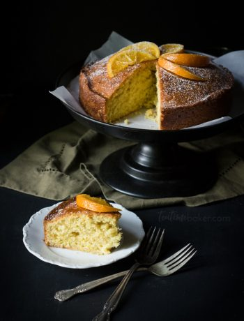 Enjoy a slice of Orange Madeira Cake topped with a tasty cinnamon rum glaze | Teatime Recipes | British Cake Recipe