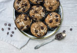 Caramelized Banana Bread Muffins with chocolate chips and coconut | Breakfast Recipe | Healthy Snacks