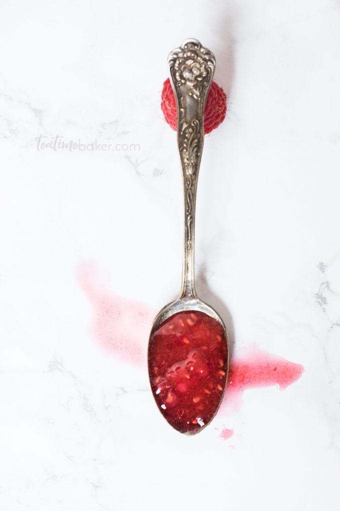Brilliantly lovely Red Raspberry Freezer Jam brings the flavor of summer all winter long | Freezer Jam Recipe