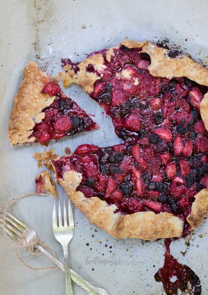 Celebrate summer with a Triple Berry Galette! | Summer Fruit Desserts