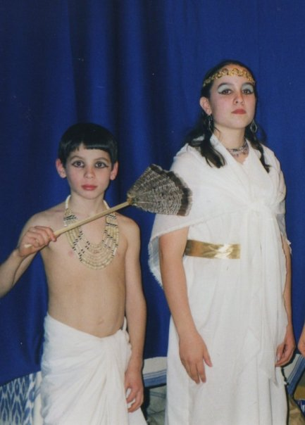 Egyptian costume party in high school