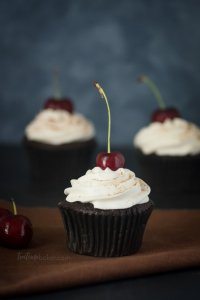 Simple and tasty Black Forest Cupcakes | Cupcake Recipes | Chocolate cake