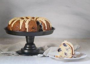Lemon Blueberry Bundt Cake is topped with a lemon brown butter glaze | Cake Recipes | Bundt Cake | Summer Cakes
