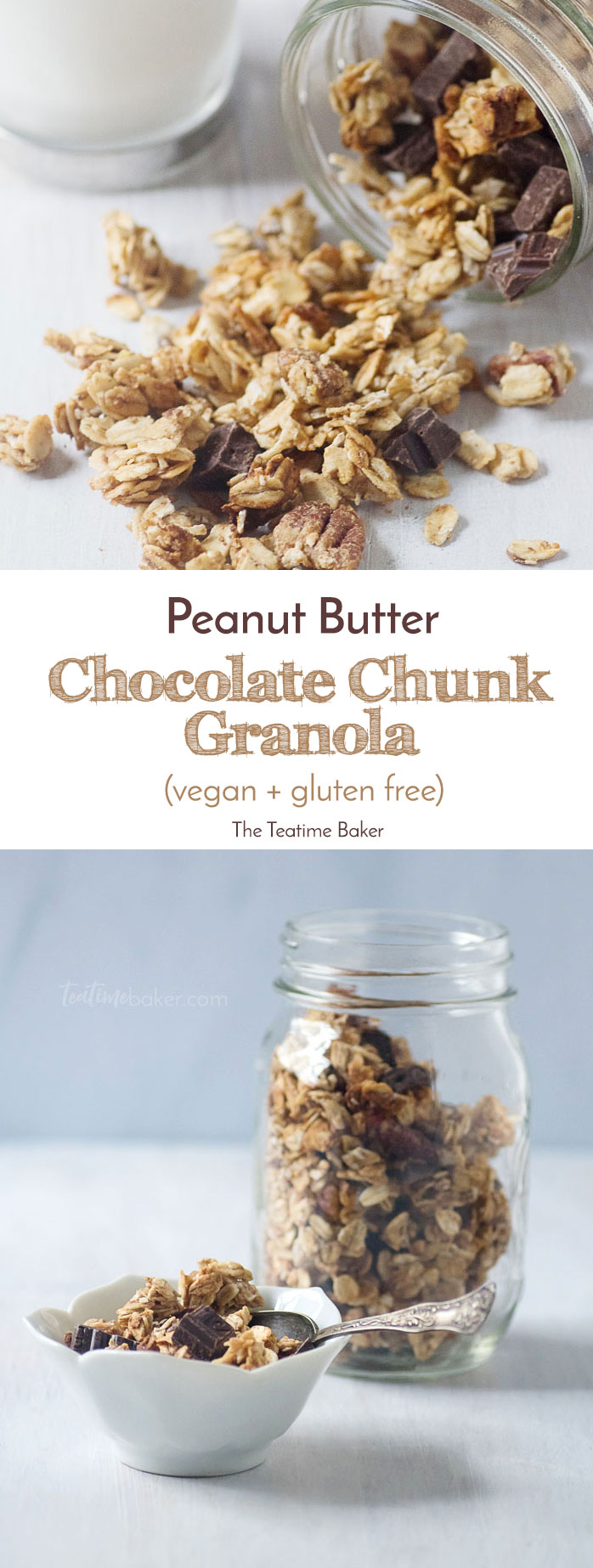 Healthy Peanut Butter Chocolate Chunk Granola