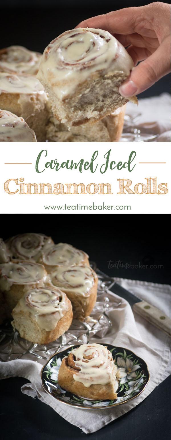 Caramel Iced Cinnamon Rolls