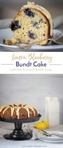 Summer bundt cake filled with blueberries and bursting with flavor | Lemon Cake