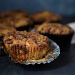 Apple Spice Muffins are the perfect fall breakfast. Topped with a cinnamon pecan streusel for just the right amount of crunch. | Apple Muffin Recipe | Fall breakfast food | The Teatime Baker #applespicemuffins