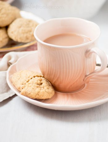 True to the name Chai Spice Cookies are a cup of chai in cookie form. Soft and delicately spiced with a sparkle of sugar on top they are a teatime treat!   The Teatime Baker   Holiday Cookie Recipe   #chaicookies