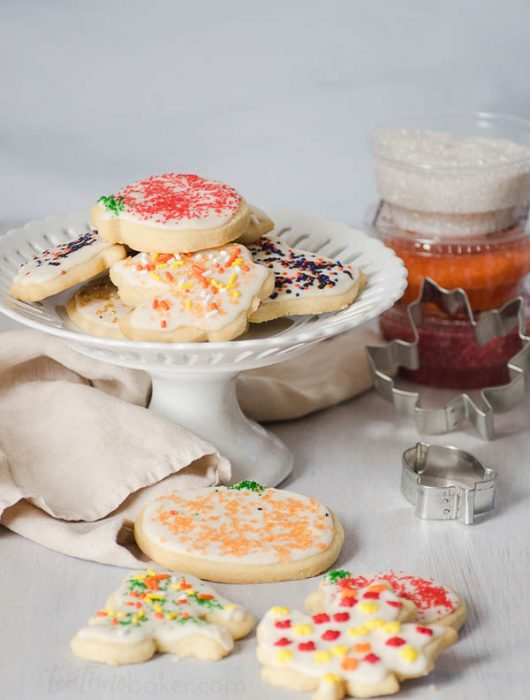 Soft, sweet and buttery, Grandma's Sugar Cookies are beautiful and delicious. Great for decorating with kids or holiday cookie parties!   Cookie Decorating   The Teatime Baker   Holiday Cookies   #sugarcookierecipe