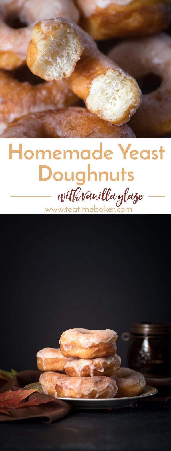 Homemade Yeast Doughnuts with Vanilla Glaze