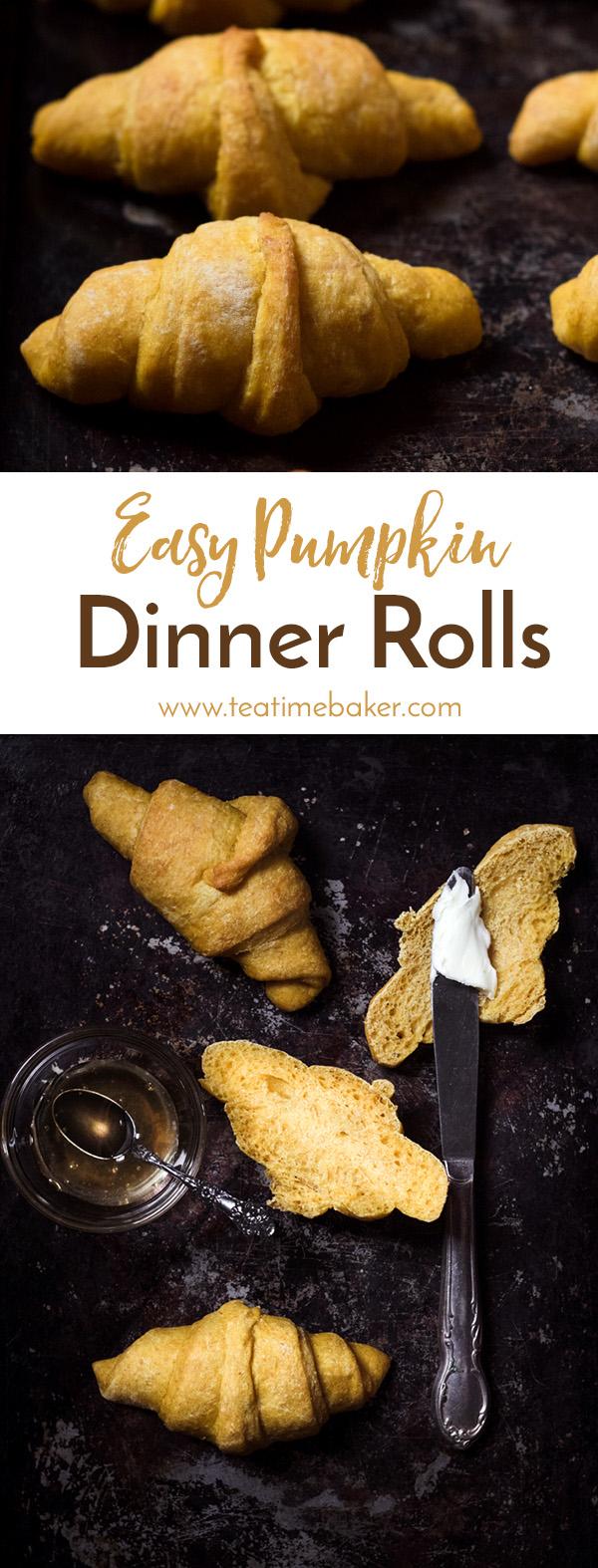 Easy Pumpkin Dinner Rolls