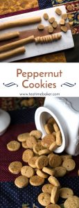 Try a traditional European Christmas cookie recipe this year. Peppernut Cookies are sweet, spicy, crunchy and surprisingly addictive! | Holiday Baking | Christmas Cookies | The Teatime Baker | #peppernutcookies #europeanchristmascookies