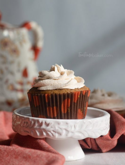 Apple Cider Cupcakes ready for teatime