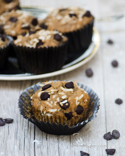 Caramelized Banana Bread Muffins