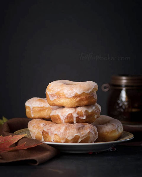 Homemade Yeast Doughnuts with Vanilla Glaze