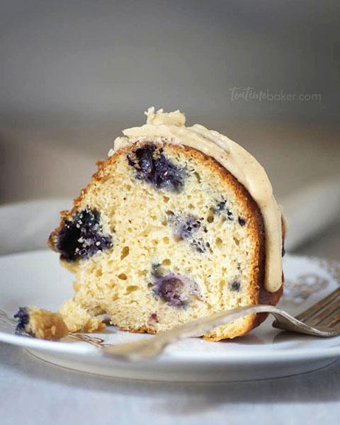 Lemon Blueberry Bundt Cake with Lemon Brown Butter Glaze