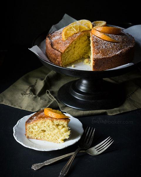 Orange Madeira Cake With Cinnamon Rum Glaze